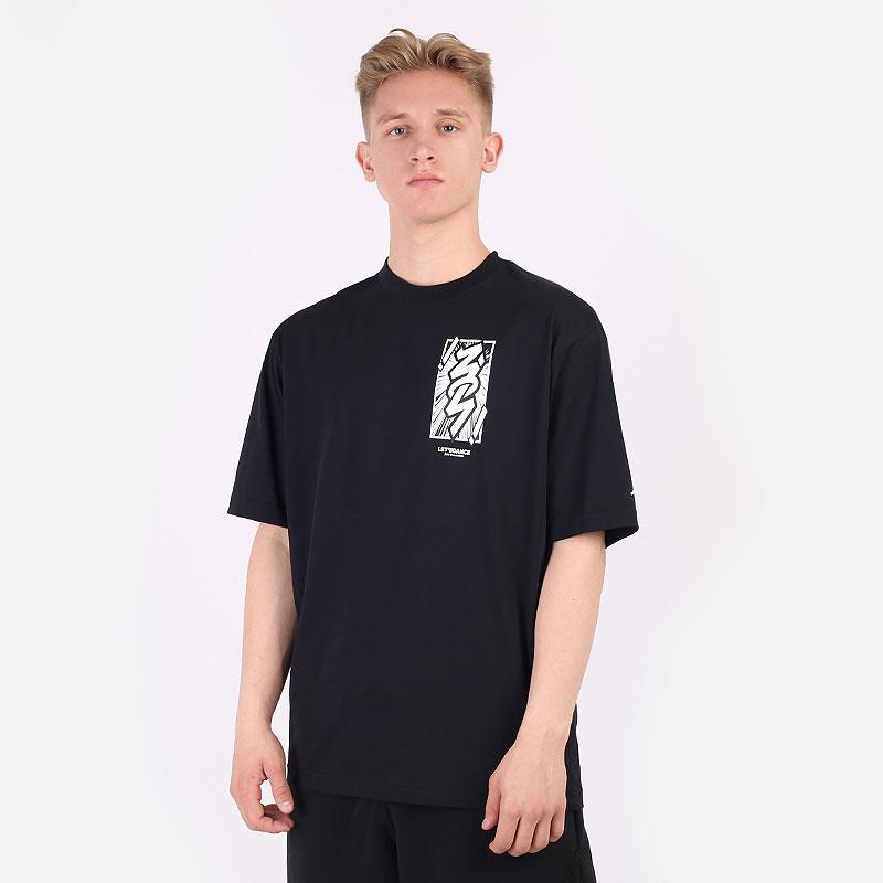 мужскую черную  футболка jordan dri-fit zion short-sleeve t-shirt DH0592-010 - цена, описание, фото 1