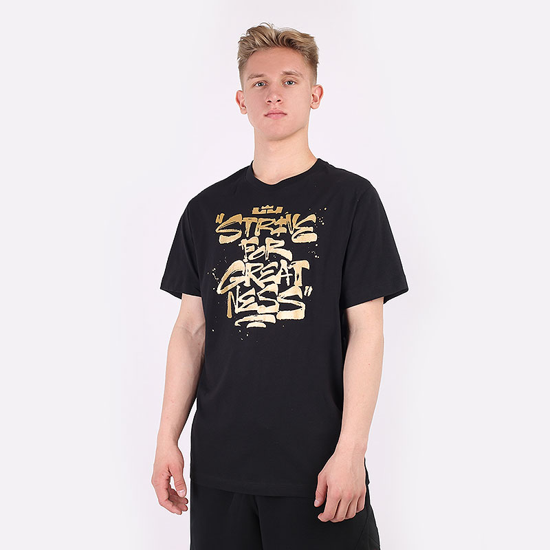 мужскую черную  футболка nike strive for greatness tee DD0785-011 - цена, описание, фото 1