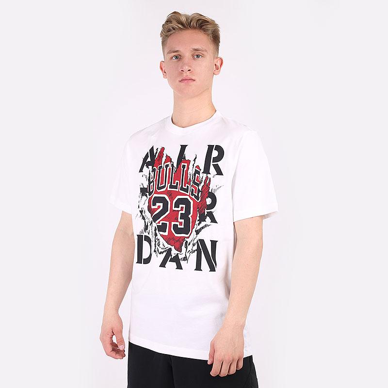 мужскую белую  футболка jordan aj5 85 gfx short sleeve crew tee DD5259-100 - цена, описание, фото 1