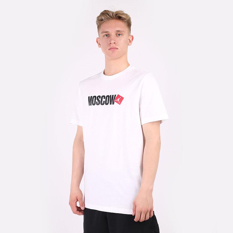 мужскую белую  футболка jordan moscow short-sleeve t-shirt DD8038-100 - цена, описание, фото 1