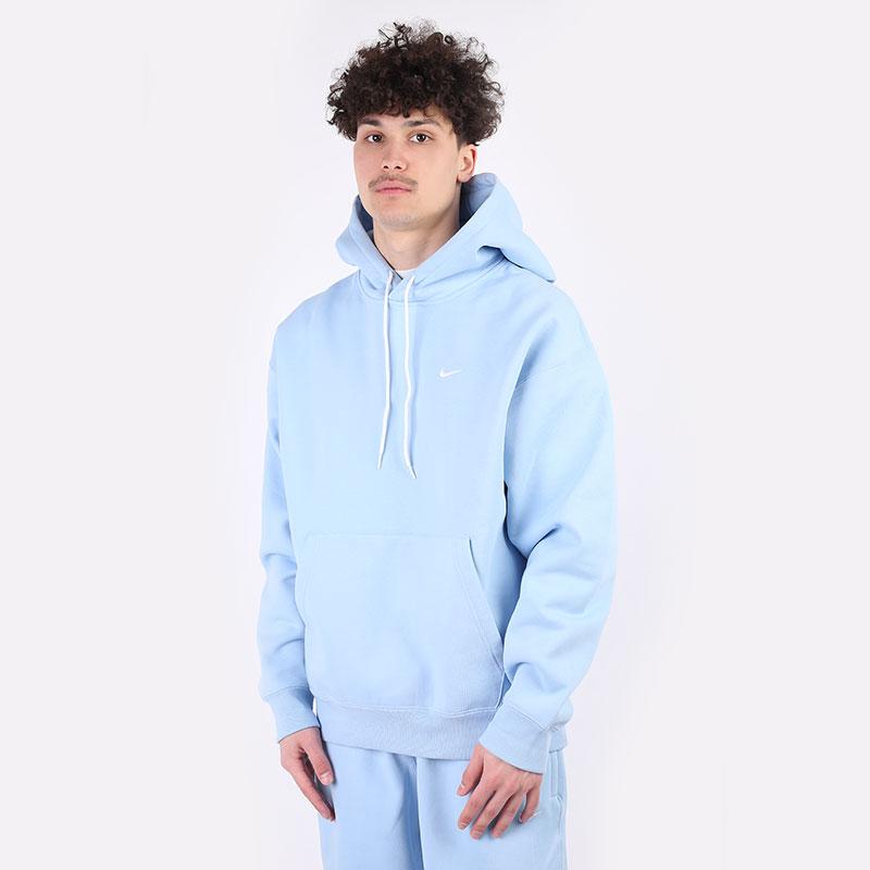мужскую голубую  толстовка nike nrg fleece hoodie CV0552-436 - цена, описание, фото 1