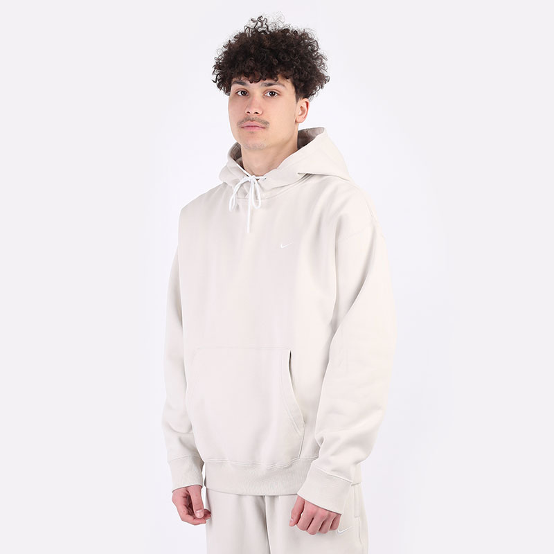 мужскую бежевую  толстовка nike nrg fleece hoodie CV0552-072 - цена, описание, фото 1
