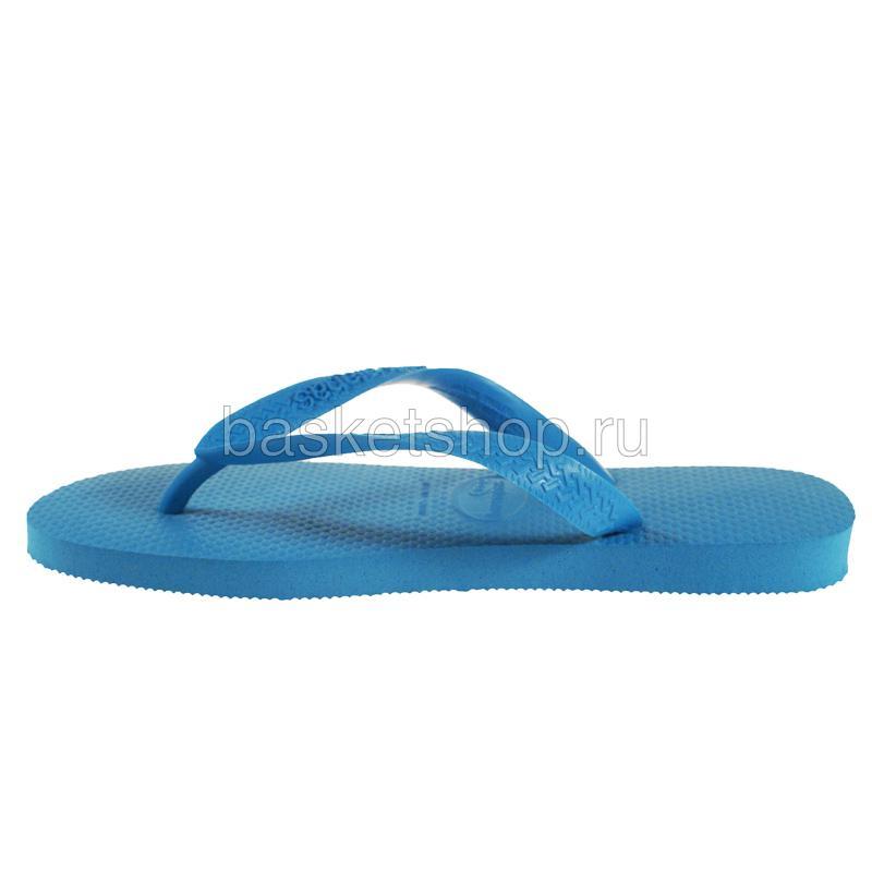 Купить голубые  сланцы top в магазинах Streetball изображение - 2 картинки