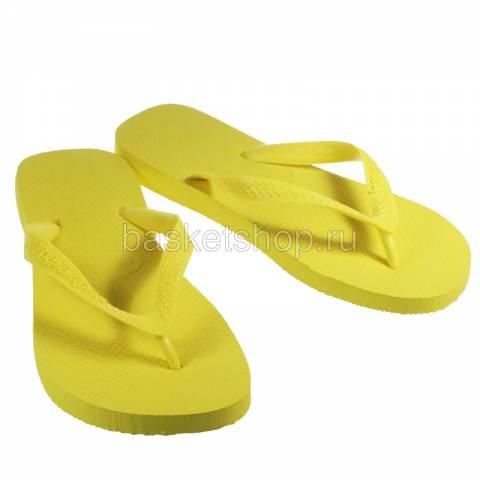 Купить желтые  сланцы top в магазинах Streetball - изображение 1 картинки