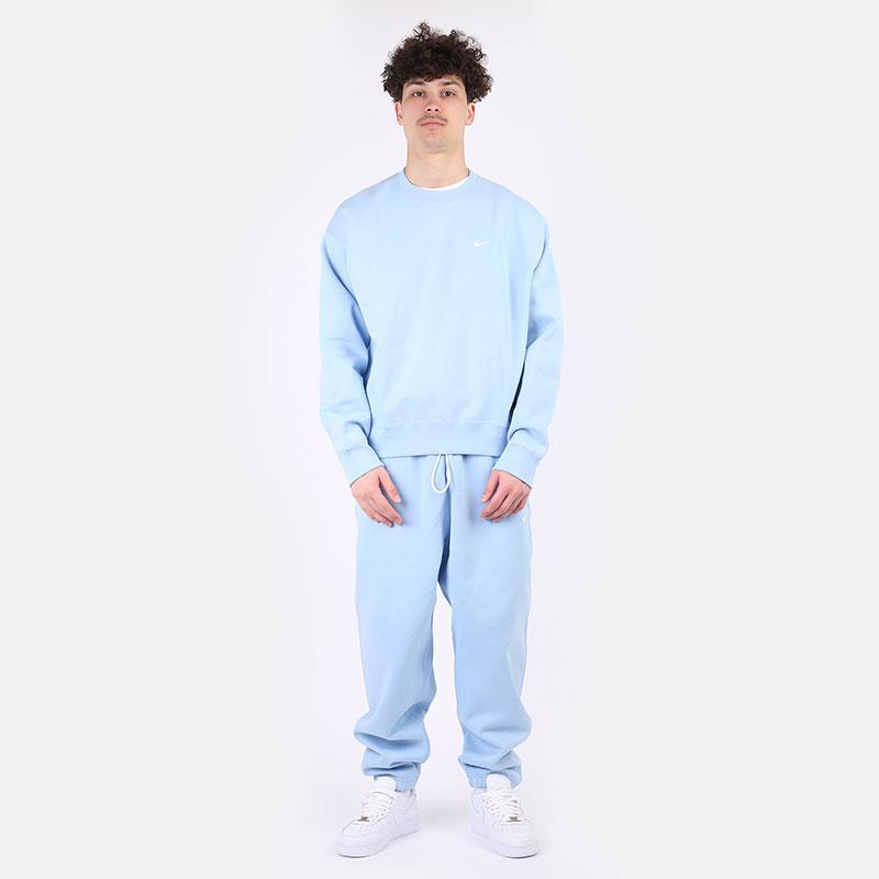 мужские голубые  брюки nike nrg fleece pants CW5460-436 - цена, описание, фото 7