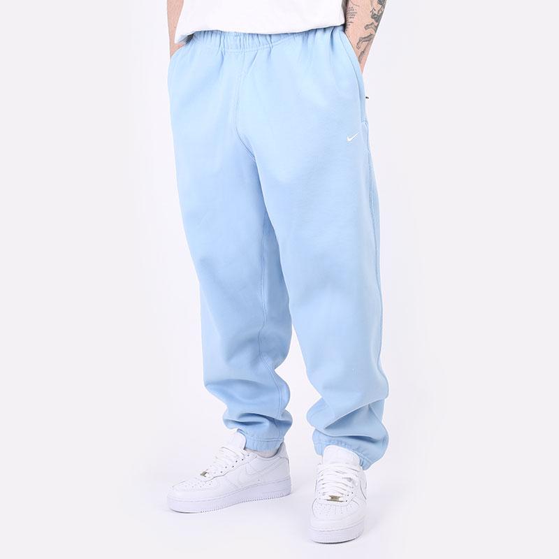 мужские голубые  брюки nike nrg fleece pants CW5460-436 - цена, описание, фото 1
