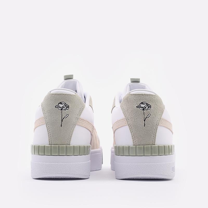 женские белые  кроссовки puma cali sport in bloom wn`s 37504902 - цена, описание, фото 7