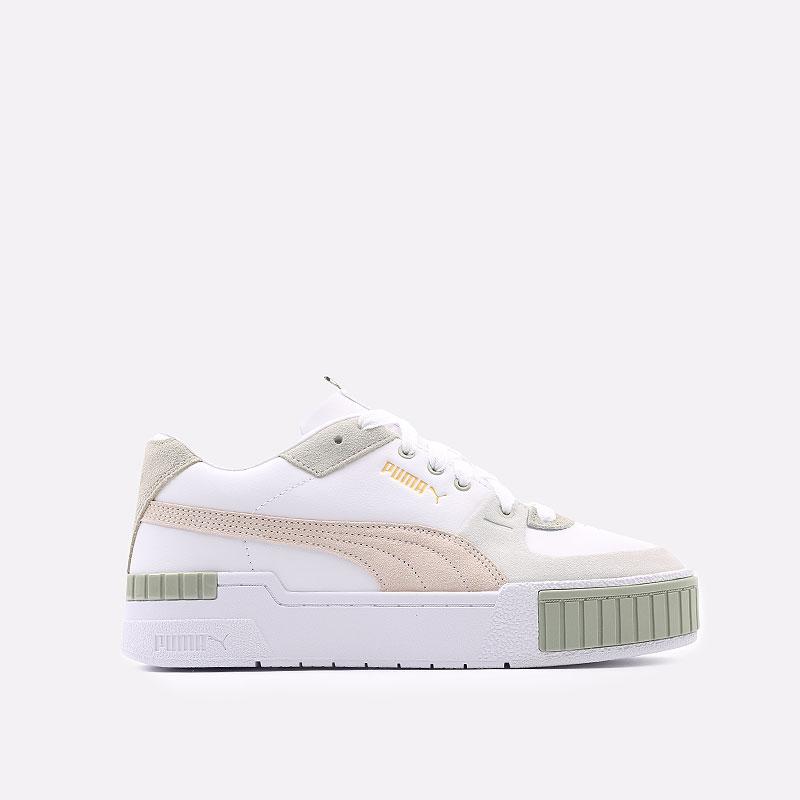 женские белые  кроссовки puma cali sport in bloom wn`s 37504902 - цена, описание, фото 1