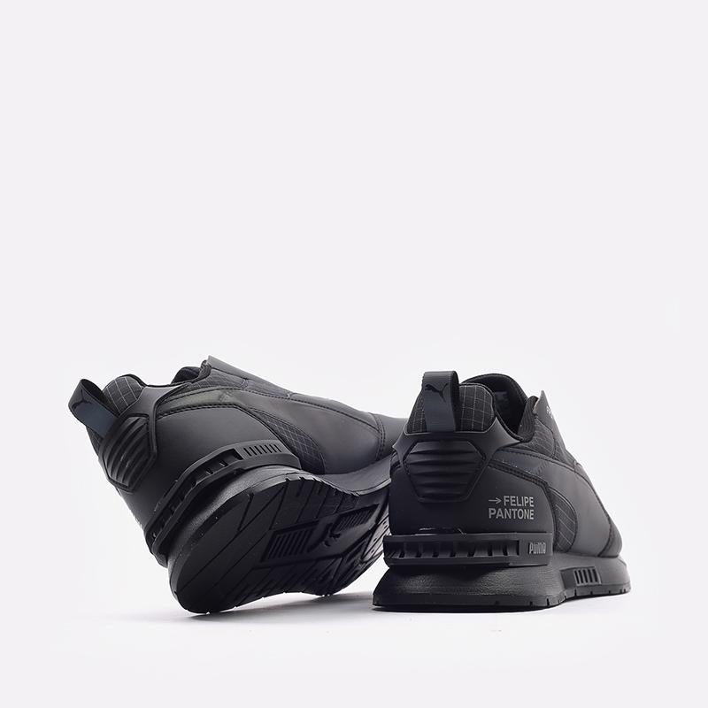 мужские черные  кроссовки puma mirage mox tech fp 37563501 - цена, описание, фото 4
