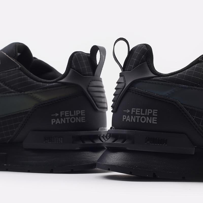 мужские черные  кроссовки puma mirage mox tech fp 37563501 - цена, описание, фото 8