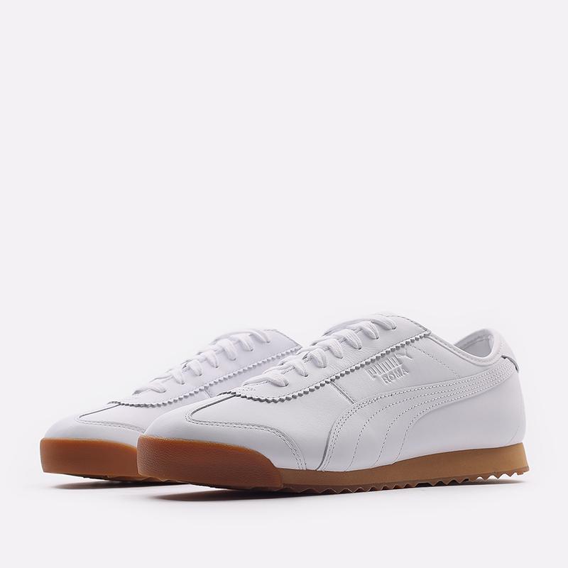 мужские белые  кроссовки puma roma kitsune 38022301 - цена, описание, фото 2