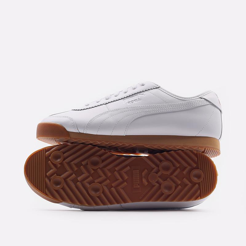 мужские белые  кроссовки puma roma kitsune 38022301 - цена, описание, фото 5