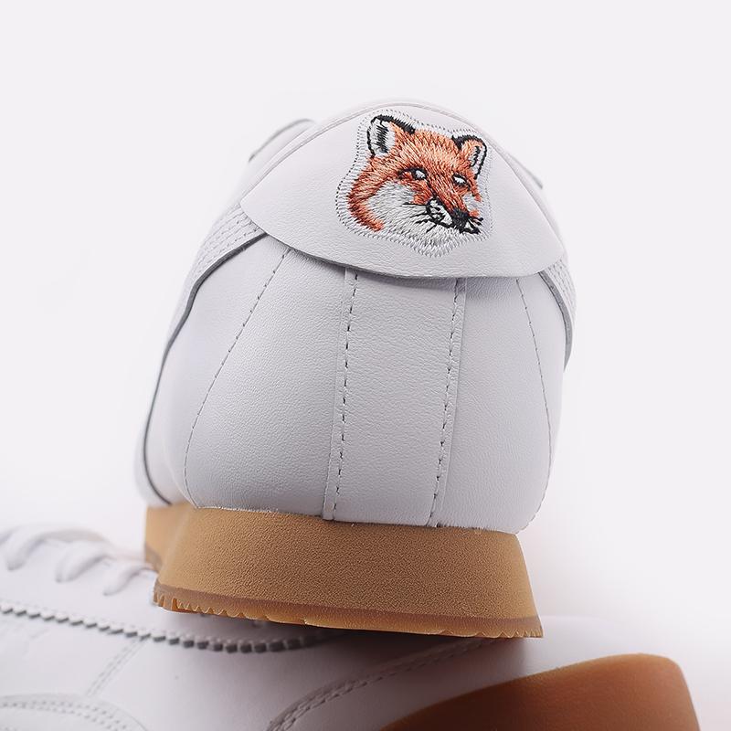 мужские белые  кроссовки puma roma kitsune 38022301 - цена, описание, фото 7