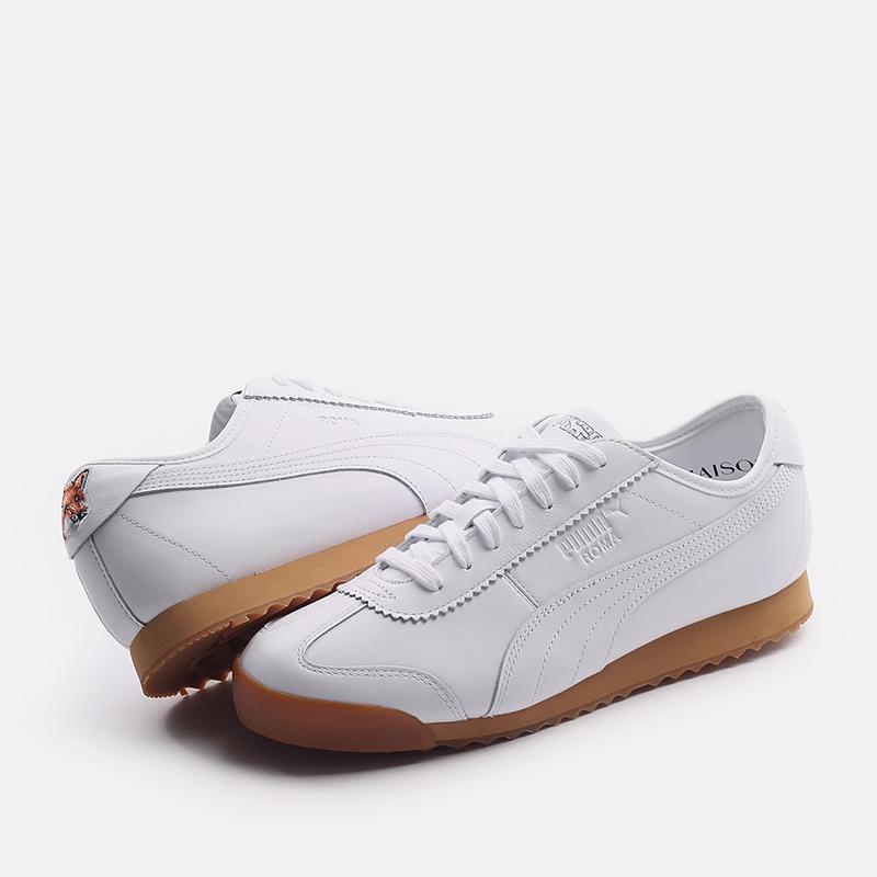 мужские белые  кроссовки puma roma kitsune 38022301 - цена, описание, фото 6