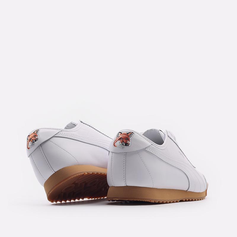 мужские белые  кроссовки puma roma kitsune 38022301 - цена, описание, фото 3