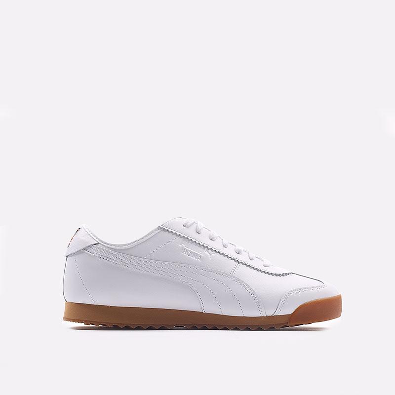 мужские белые  кроссовки puma roma kitsune 38022301 - цена, описание, фото 1