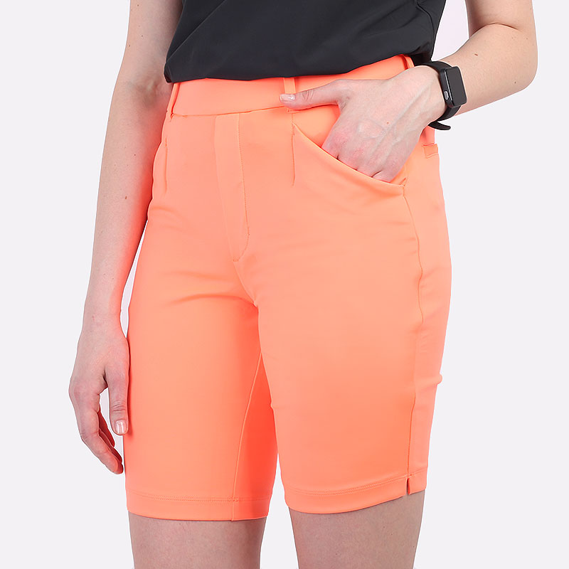 женские оранжевые  шорты  nike dri-fit uv ace women's golf shorts CU9399-854 - цена, описание, фото 1