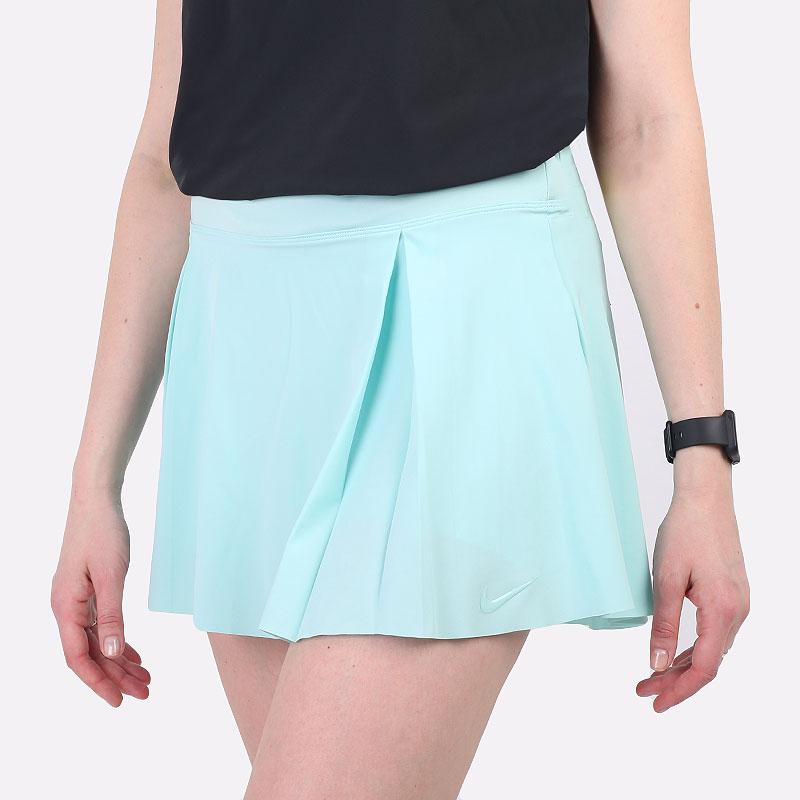 женская голубая юбка Nike Club Skirt Women's Regular Golf Skirt DD3735-382 - цена, описание, фото 1
