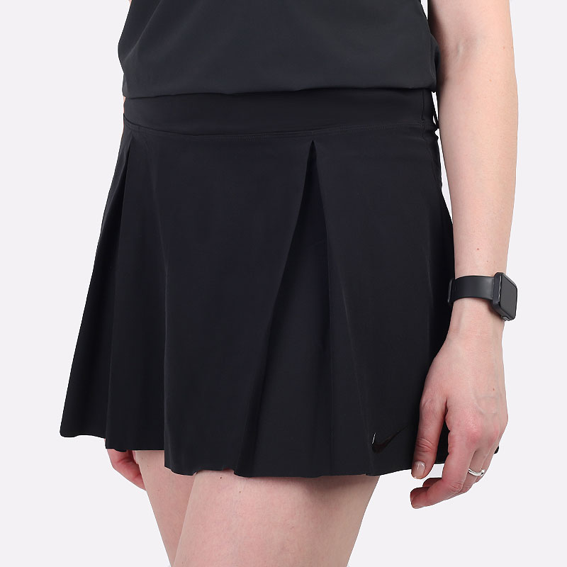 женскую черную  юбка nike club skirt women's regular golf skirt DD3735-010 - цена, описание, фото 1
