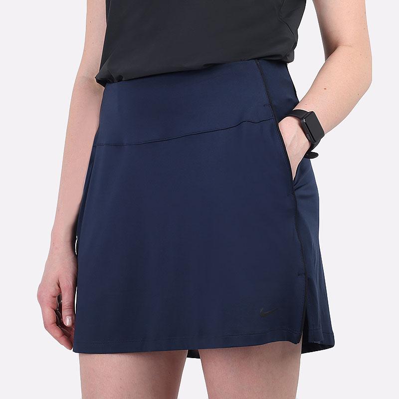 женскую синюю  юбка nike dri-fit uv victory women's golf skirt CU9657-451 - цена, описание, фото 1