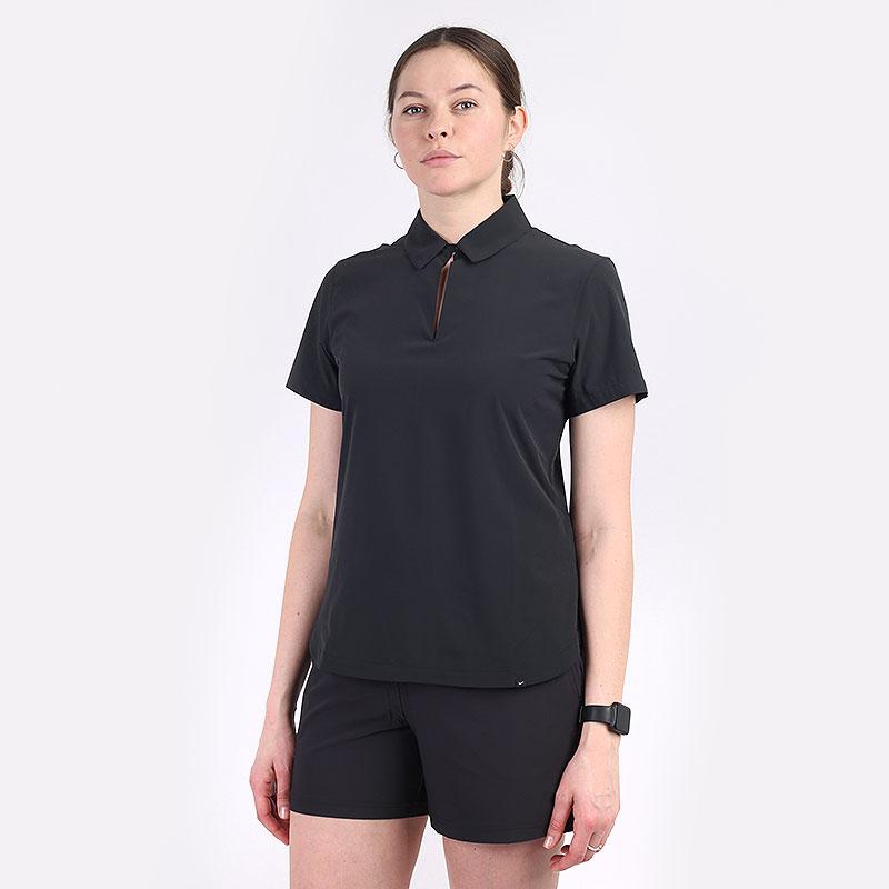 женский черный  поло nike flex ace women's golf polo CU9349-010 - цена, описание, фото 1