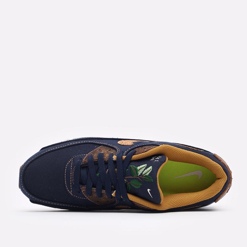 мужские синие  кроссовки nike air max 90 se DD0385-400 - цена, описание, фото 4