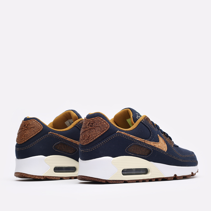 мужские синие  кроссовки nike air max 90 se DD0385-400 - цена, описание, фото 7