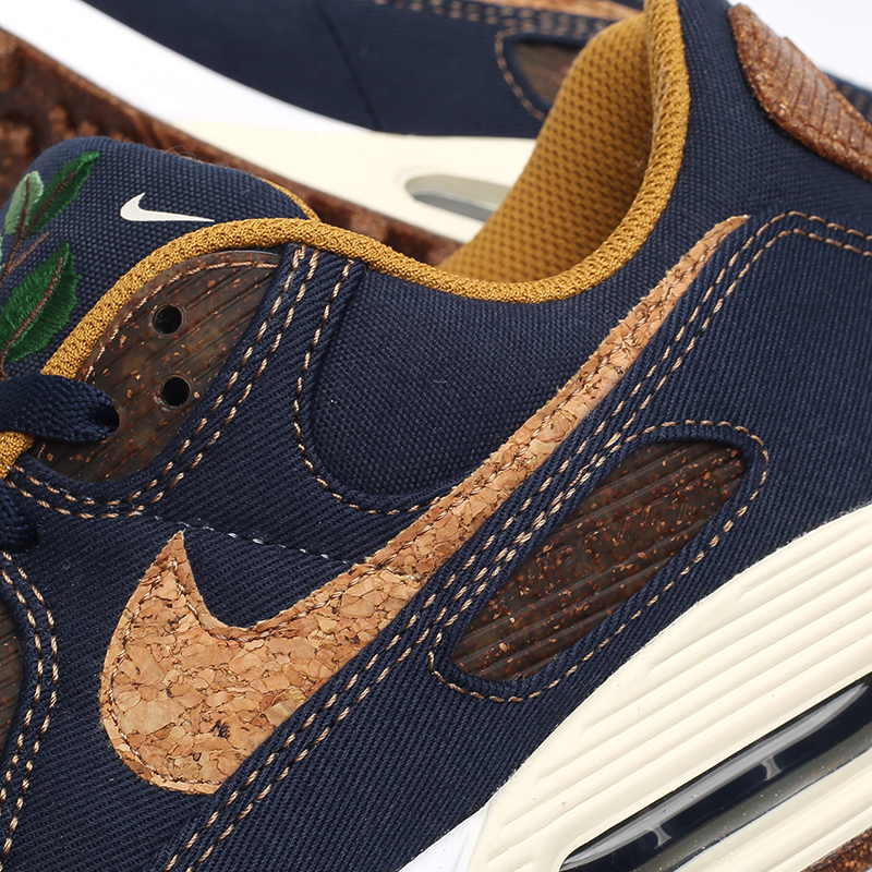 мужские синие  кроссовки nike air max 90 se DD0385-400 - цена, описание, фото 5