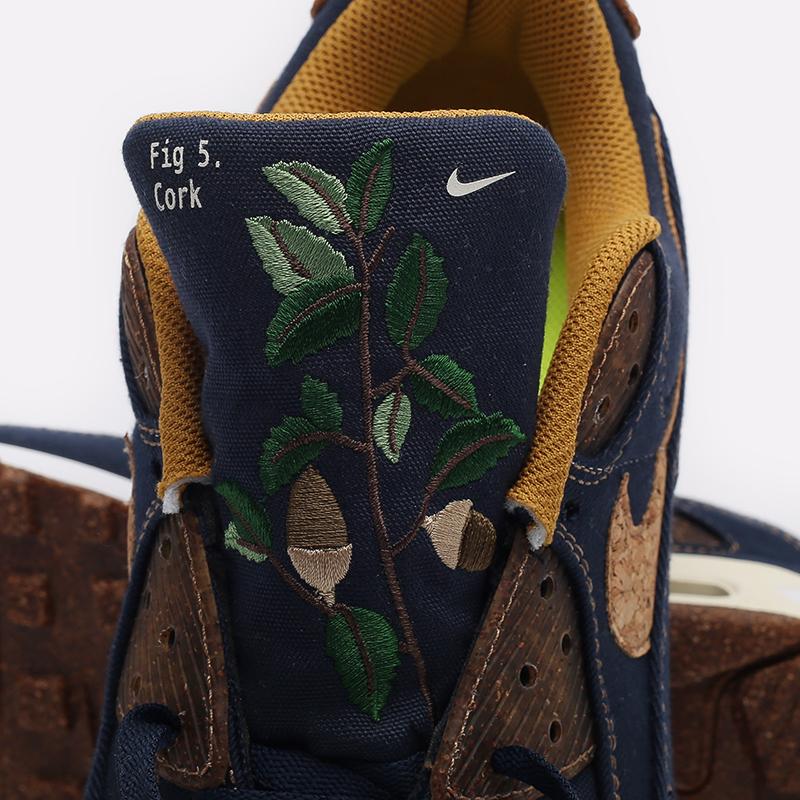 мужские синие  кроссовки nike air max 90 se DD0385-400 - цена, описание, фото 6