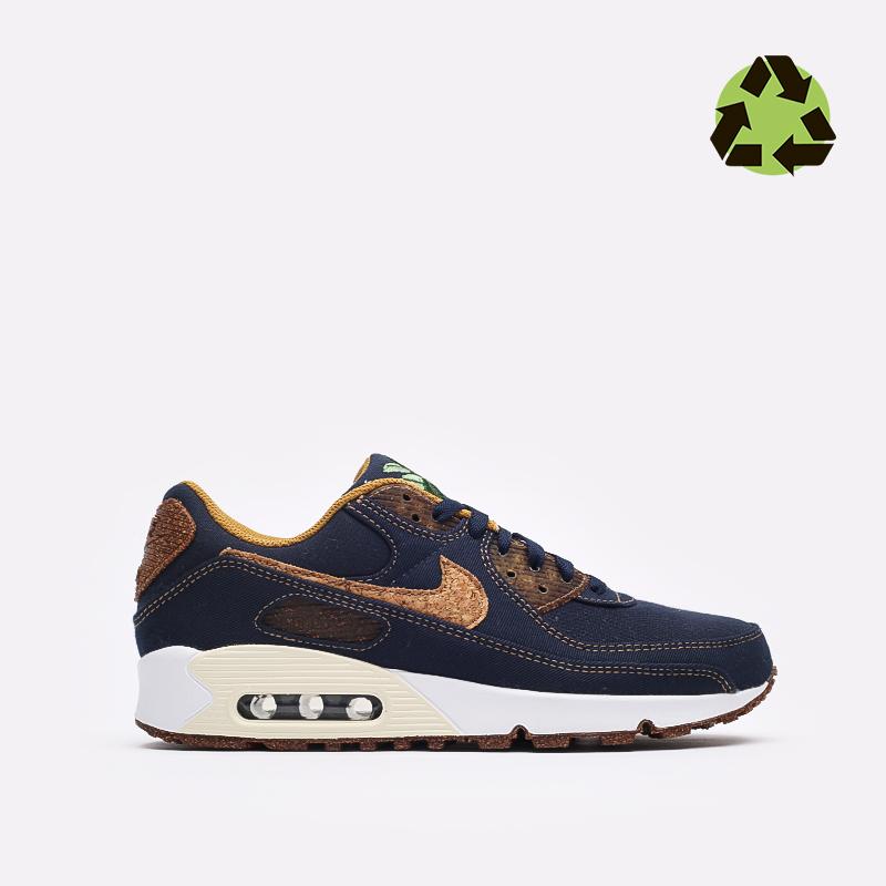 мужские синие  кроссовки nike air max 90 se DD0385-400 - цена, описание, фото 1