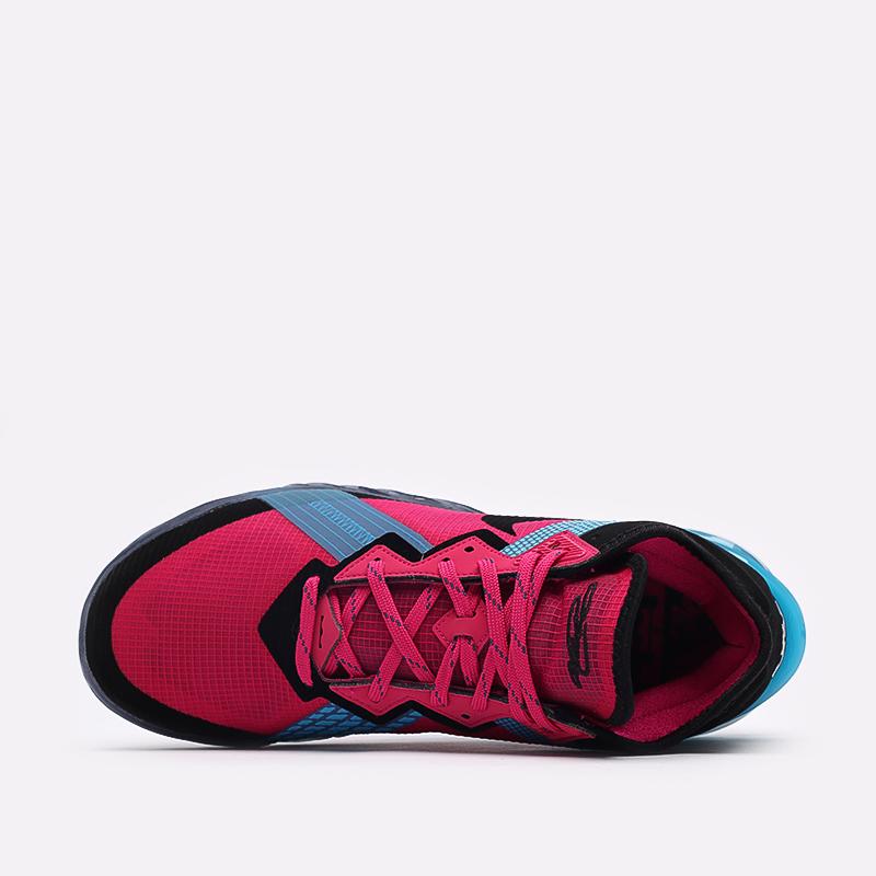 мужские чёрные, малиновые, голубые  кроссовки nike lebron xviii low CV7562-600 - цена, описание, фото 6