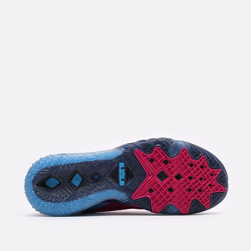 мужские чёрные, малиновые, голубые  кроссовки nike lebron xviii low CV7562-600 - цена, описание, фото 5