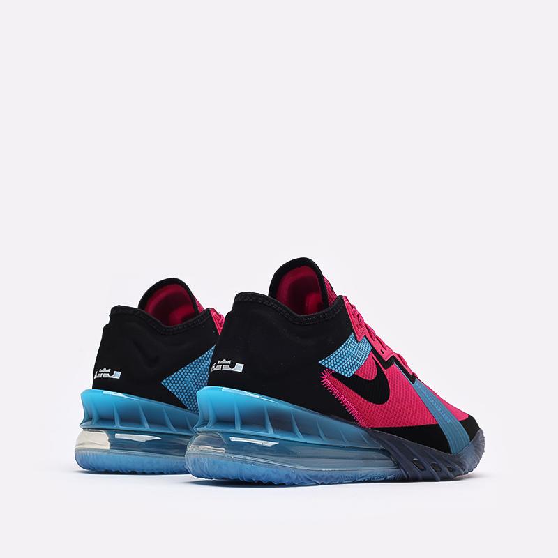 мужские чёрные, малиновые, голубые  кроссовки nike lebron xviii low CV7562-600 - цена, описание, фото 3