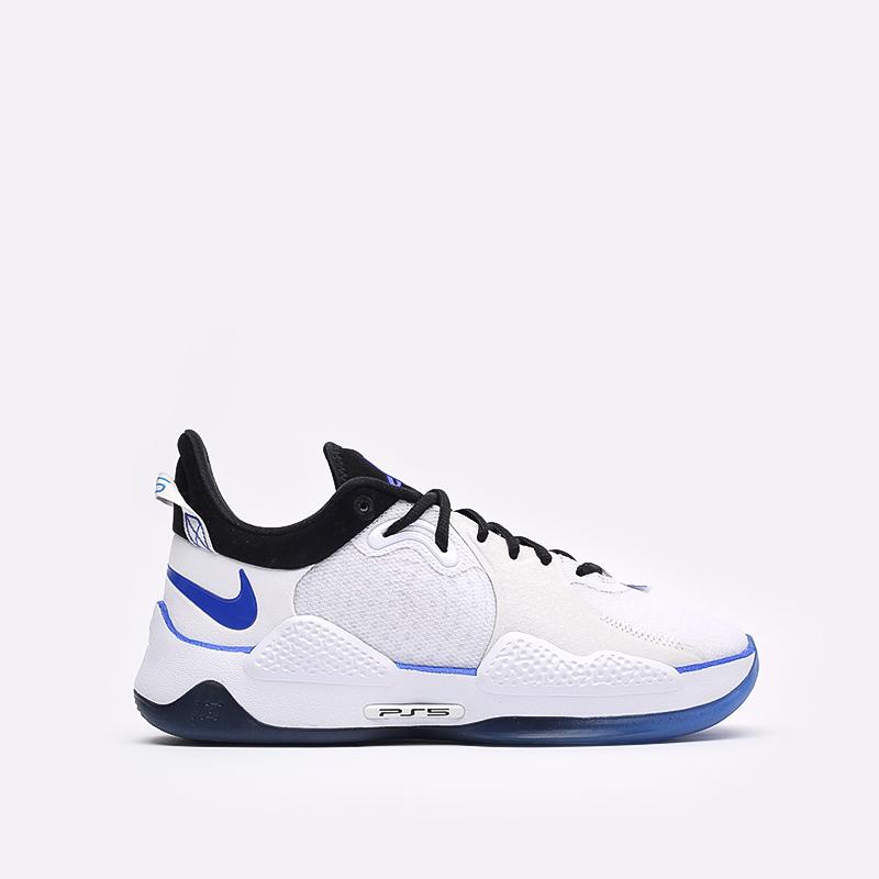 мужские белые  кроссовки nike pg 5 ps CW3144-100 - цена, описание, фото 1