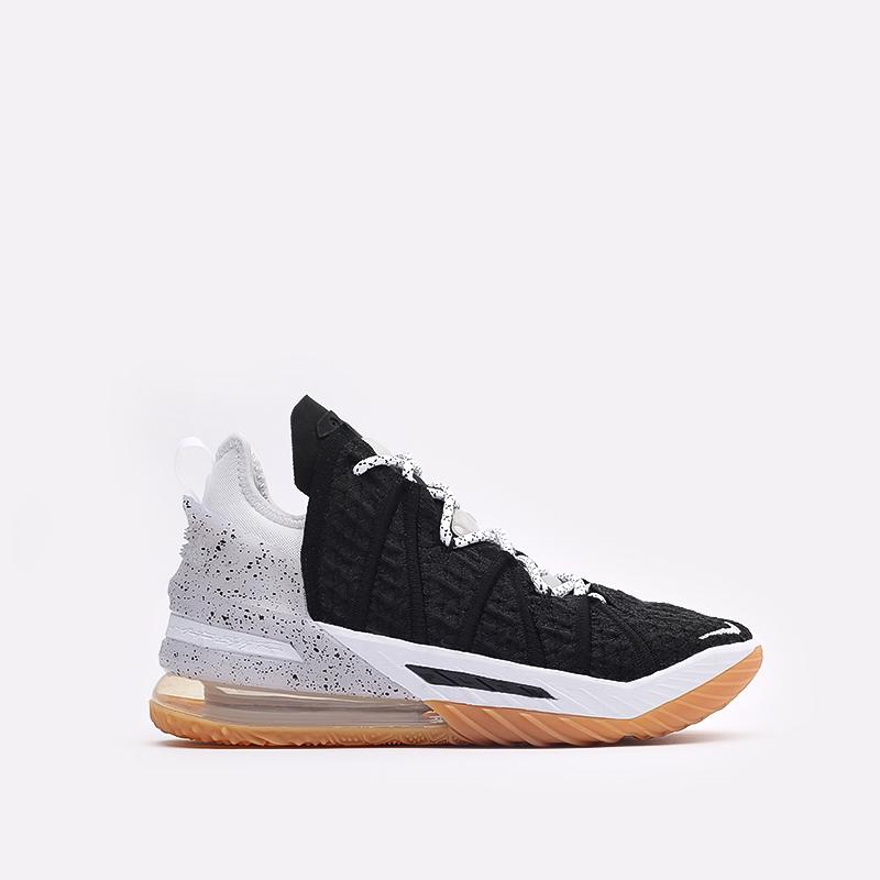 мужские чёрные  кроссовки nike lebron xviii CQ9283-007 - цена, описание, фото 1