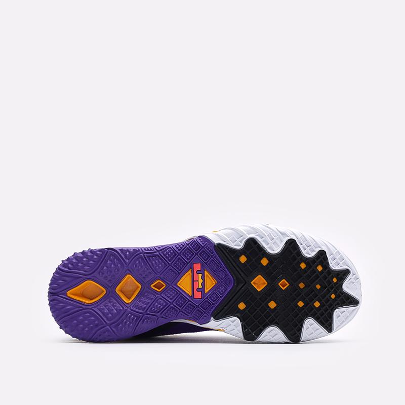 мужские чёрные, фиолетовые  кроссовки nike lebron xviii low CV7562-003 - цена, описание, фото 5
