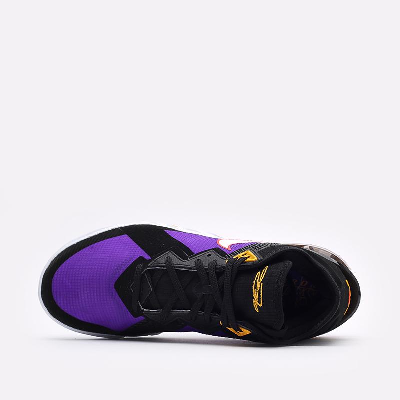 мужские чёрные, фиолетовые  кроссовки nike lebron xviii low CV7562-003 - цена, описание, фото 6