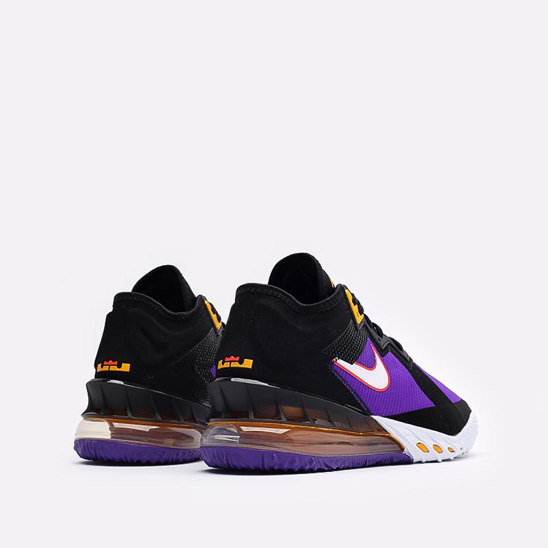 мужские чёрные, фиолетовые  кроссовки nike lebron xviii low CV7562-003 - цена, описание, фото 3