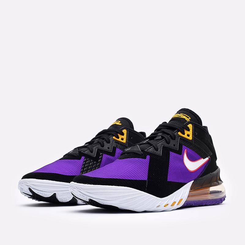 мужские чёрные, фиолетовые  кроссовки nike lebron xviii low CV7562-003 - цена, описание, фото 4