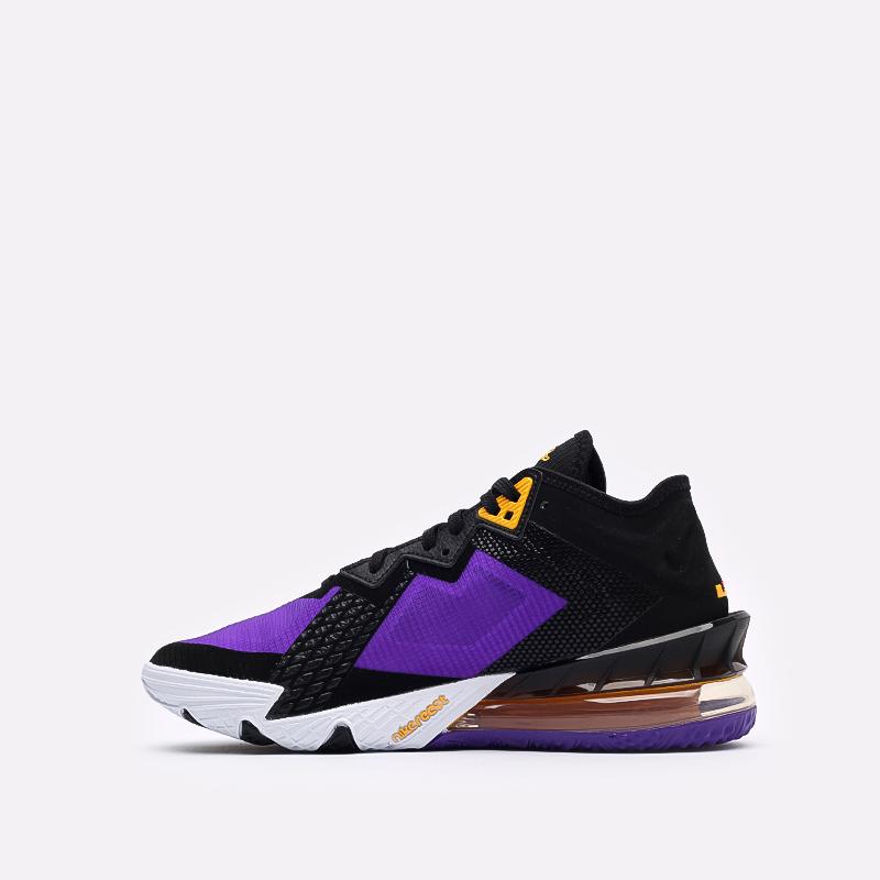 мужские чёрные, фиолетовые  кроссовки nike lebron xviii low CV7562-003 - цена, описание, фото 2