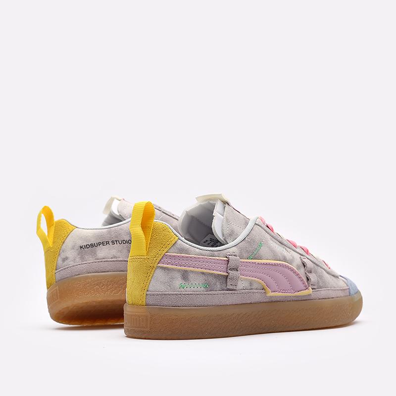 мужские разноцветные кроссовки PUMA Suede VTG x Kidsuper 38051301 - цена, описание, фото 3