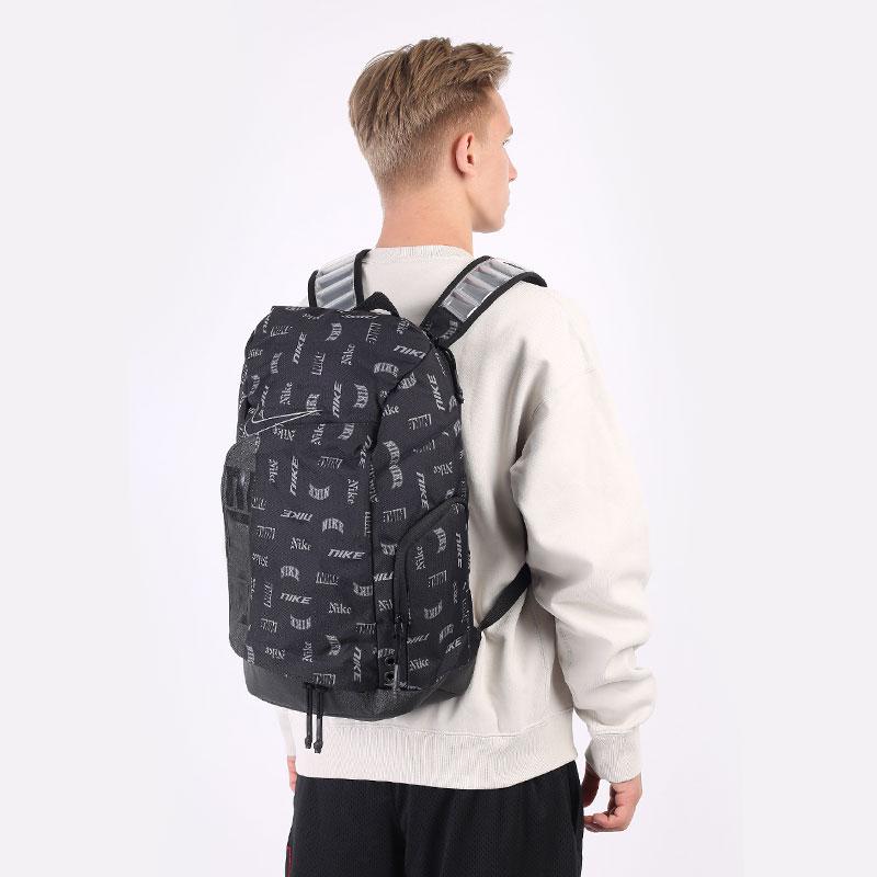 черный  рюкзак nike hoops elite printed basketball backpack 23l CU8347-011 - цена, описание, фото 1