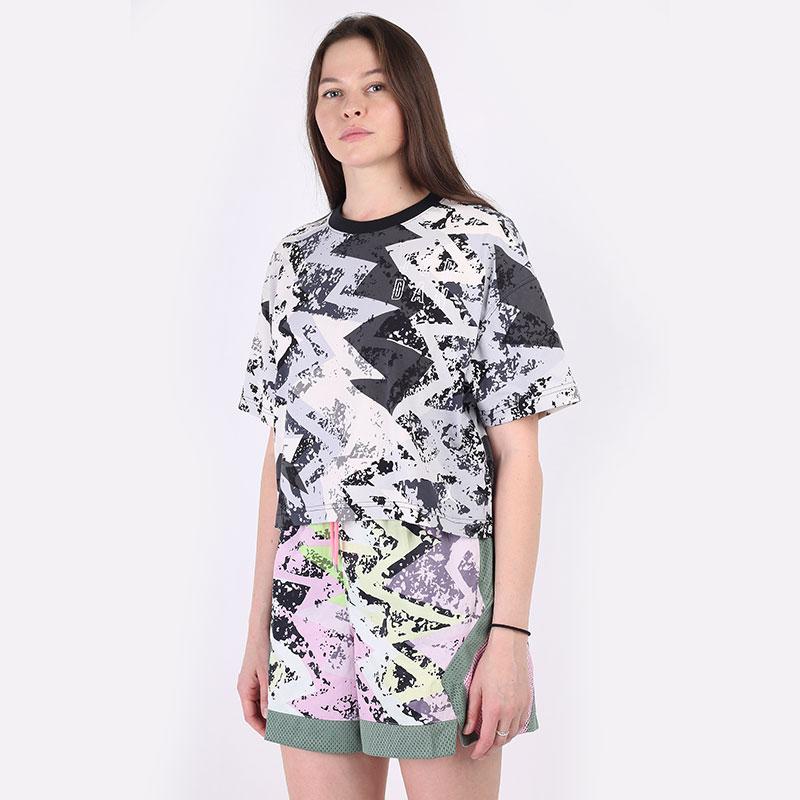 женскую серую  футболка jordan heatwave women's boxy t-shirt DD0411-084 - цена, описание, фото 1