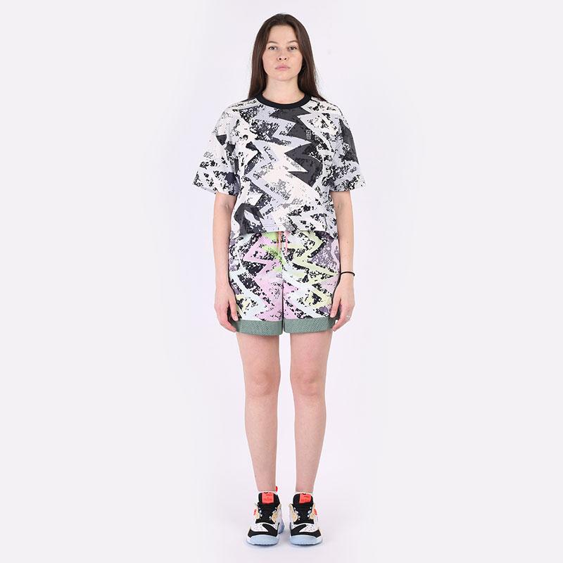 женские разноцветные  шорты  jordan heatwave women's diamond shorts DC2149-676 - цена, описание, фото 6