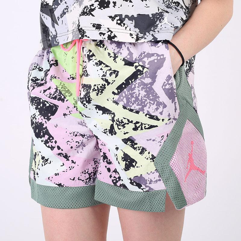 женские разноцветные  шорты  jordan heatwave women's diamond shorts DC2149-676 - цена, описание, фото 1