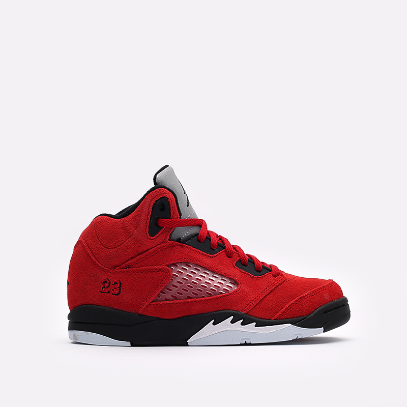 детские красные  кроссовки jordan 5 retro (ps) 440889-600 - цена, описание, фото 1