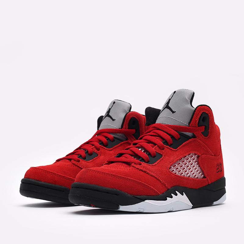 детские красные  кроссовки jordan 5 retro (ps) 440889-600 - цена, описание, фото 2