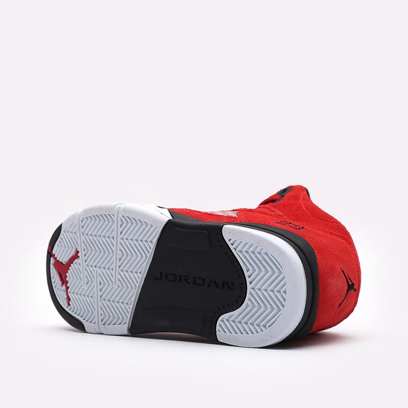 детские красные  кроссовки jordan 5 retro (ps) 440889-600 - цена, описание, фото 4