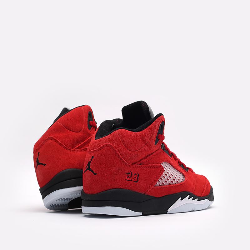 детские красные  кроссовки jordan 5 retro (ps) 440889-600 - цена, описание, фото 3