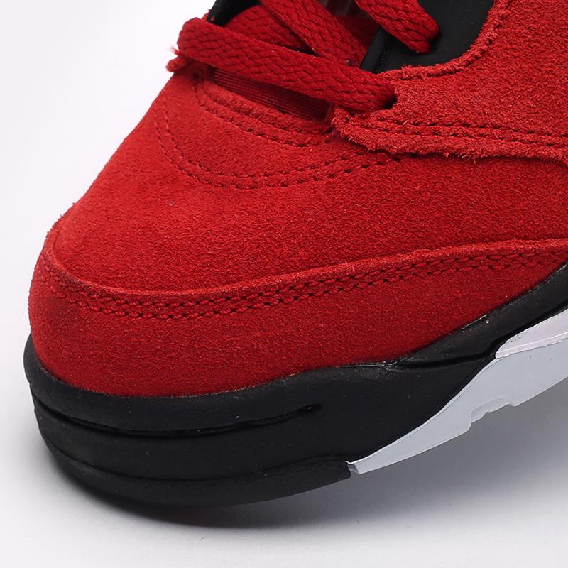детские красные  кроссовки jordan 5 retro (ps) 440889-600 - цена, описание, фото 6